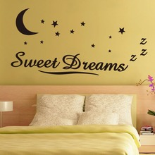 Wall Stickers Stars Quote Wall Decoration Sticker Dream Words Sweet Dreams Star Vinyl Stickers For Kids Bedroom Home Decoration