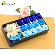 HAKOONA  Soap Roses Valentine's Day Present  Mother's Day Birthday Gift For His Girlfriend Romantic Gift 12 Soap Roses Box Gift