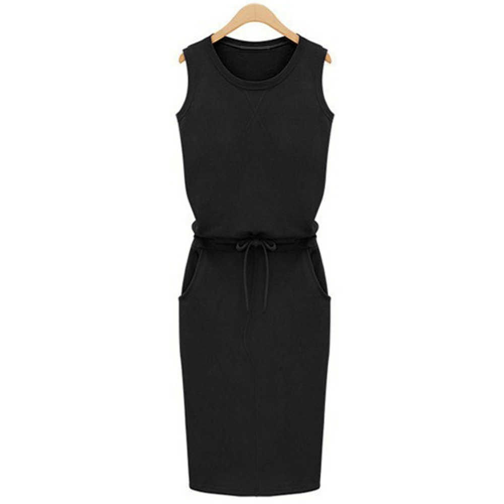 Pure-Color-Patchwork-Shift-Vestidos-Summer-Fashion-Women-Ladies-Casual-Dress-Roound-Neck-Sleeveless-Solid-Slim (1)