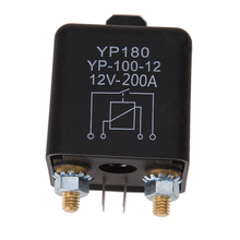High Power 4 Pin Car Relay 12V 200A Car Truck Motor Automotive Relay Continuous Type Automotive Switch Car Relay Normally Open(China)