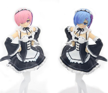 Anime Re: Zero Kara Hajimeru Isekai Seikatsu Ram / Rem Maid Ver. PVC Action Figure Collectible Model Toy 20cm KT3306