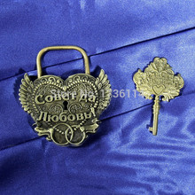 Practical souvenirs.Wedding decoration.Ancient copper lock.Lock the wedding ceremony,memorial lock,technology,domestic adornment(China)