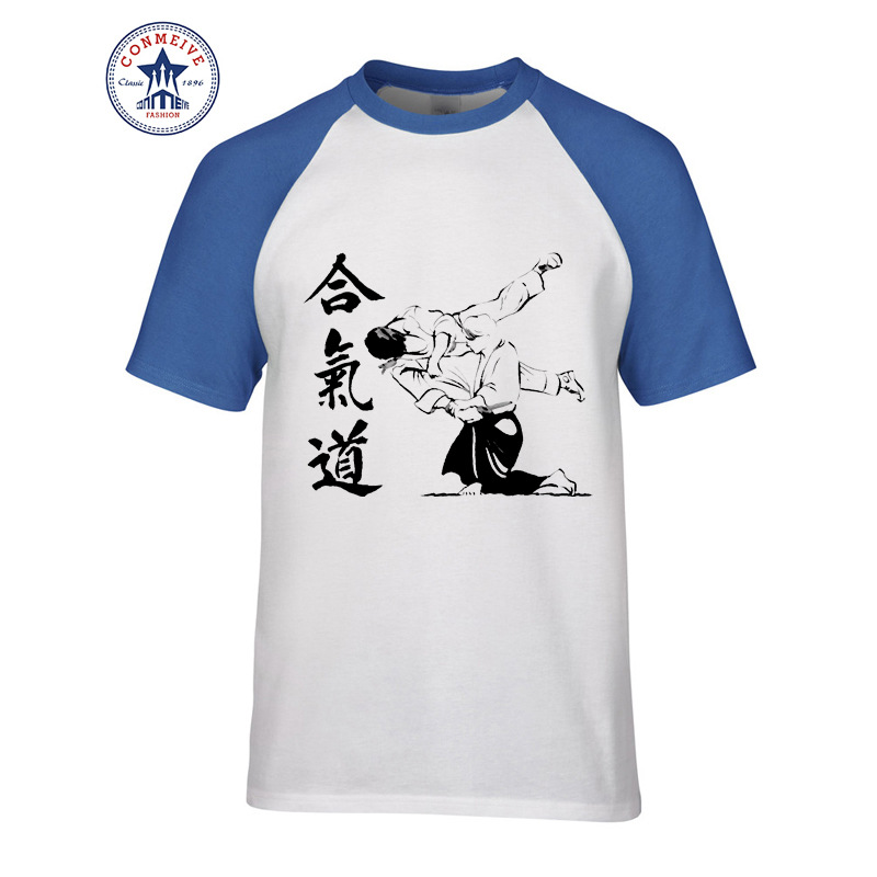 HTB1qns8ebsTMeJjSszdq6AEupXaE t shirt aikido 2017 Teenage Youth Funny Cotton for men