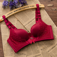 Buy Seamless Bra Gather Sexy Lingerie Bra Push Brassiere Bralette Wireless Underwear Bras Women Soutien Gorge Push