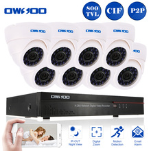 OWSOO Full CIF 16CH DVR 800TVL Security Camera System P2P Network Digital Video Recorder 8 pcs Infrared Doom Camera Email Alarm(China)