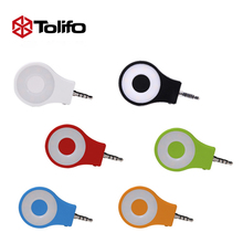 Tolifo Selfie Fill light Portable LED digital ring photography camera soft light 3.5mm plug for ios for Android(China)