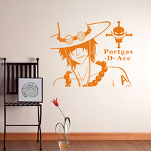 Ace one piece wall decoration home act the role ofing Japanese animated cartoon creative decoration wall post Chest stick(China)