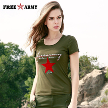 Buy FREEARMY Brand T-Shirt Fashion Military Army Green Camo Cotton T-Shirts Women Print Short Sleeved Knitting Tops Tees O Neck for $14.87 in AliExpress store
