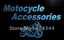 LB164- OPEN Motorcycle Accessories Display Light Sign     home decor shop crafts