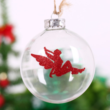 Wedding Ball clear Glass /Goddess of love/Christmas ball Ornament Tree pendant Anniversary event party Holiday decor Global 8cm(China)