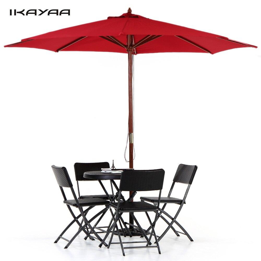 Marvelous IKayaa US Stock Wooden 3M Garden Furniture Beach Patio Umbrella Sun Shade  Outdoor Cafe Parasol Jardin