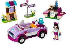 Bela friends girl friends Heart Lake City Stories series assembled  toys fight inserted puzzle  10154 Emma sports car