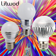 Z30 E27 E14 LED 16 Color Changing RGB Magic Light Bulb Lamp 85-265V 110V 120V 220V RGB Led Light Spotlight + IR Remote Control