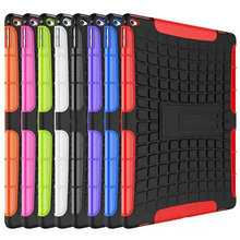 For iPad 23456 Mini 1234 Air12 Pro 7.9 12.9 Protect Skin Rubber Hybrid Cover Stand Case black red bule green pink orange Purple