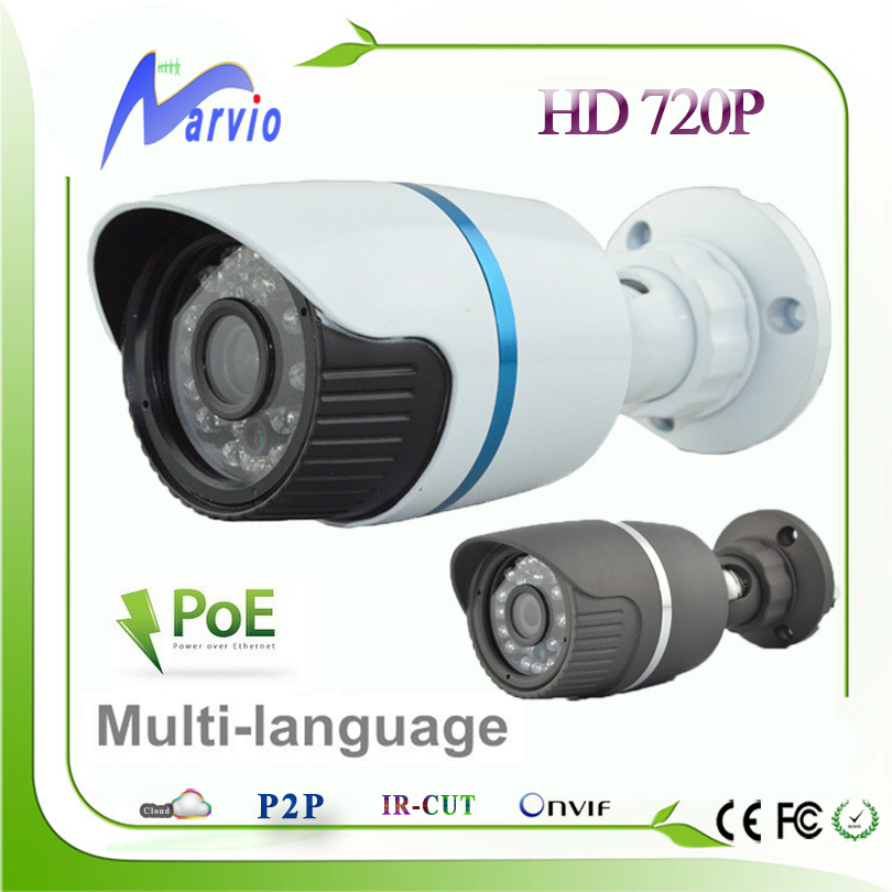 IP66 weatherproof outdoor 1MP 720P POE HD Bullet IP Camera with  802.3af Power Over Ethernet network camara ipcam<br><br>Aliexpress