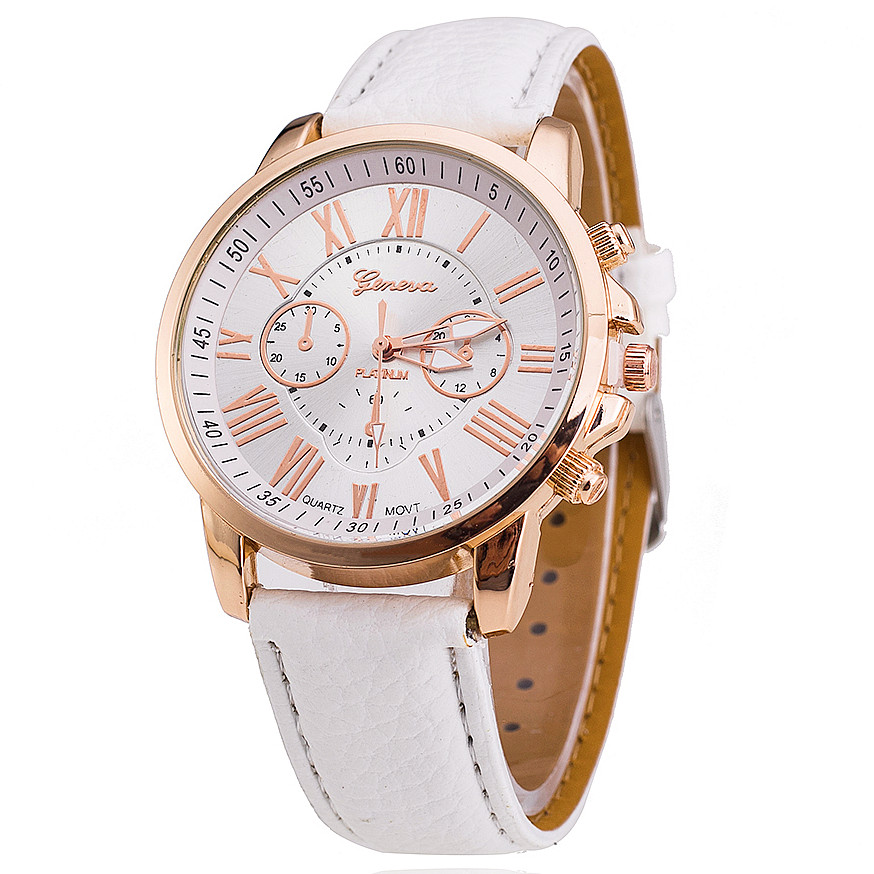 Fashion Geneva Watch Women PU Leather Wristwatch Casual Luxury Gold Dial Quartz Watch Women Dress Watches Relogio Feminino 1130<br><br>Aliexpress