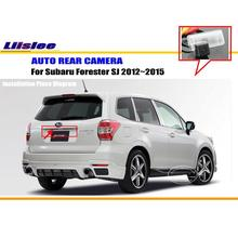 License Plate Lamp OEM / HD CCD Night Vision / RearView Camera / Backup Parking Camera For Subaru Forester SJ 2012~2015