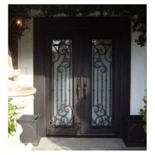 double entry wood doors luxury double entry doors arched double entry doors steel doors(China)