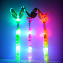 2017 Creative Flashing Butterfly Stick Cartoon light Sticks LED light Wand Kids Toys Christmas Party Supplies Glow Wand