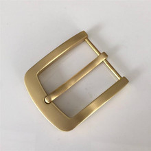 Retail 2017 Latest styles Solid brass DIY belt buckle With Fashion Mens Womens Jeans Accessories Cosplay For 3.8cm Width belt
