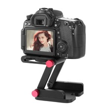Top Quality Z-Type Foldable Head Flex Z Pan Folding Desktop Quick Release Plate For Camera Tripod Tilt Head(China)