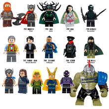 16Pcs Super Heroes Thor Hela Sif Valkyrja Bricks Action Building Blocks Children Gift Toys Compatible with Lego  X0172