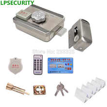 10pcs ID PVC Smart Cards DC12V Door & gate RF Access Control Electronic integrated RFID Door Rim lock for intercom(China)