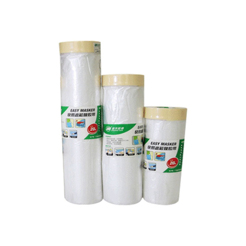 Pre-Taped Masking Film Painting Protection Covering Film Masking Tape Protective Film title=