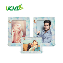 "6"" x 4"" Inch Fridge Photo Frame Lovely Colorful Retro Cartoon Magnet Picture Frames 3 Pieces / Set New Arrival(China)"