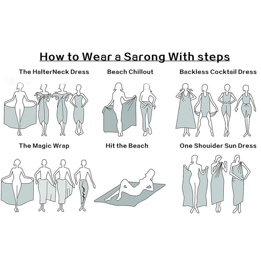 How to wear sarong