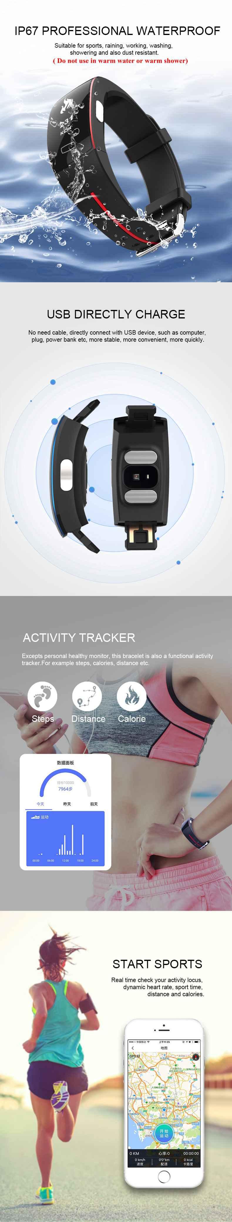 Waterproof Smart Bracelet 4