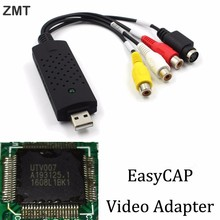 For PC/Laptop USB 2.0 Video Capture Card TV Tuner VCR DVD AV Audio Converter Connector HD Android Easycap Video capture