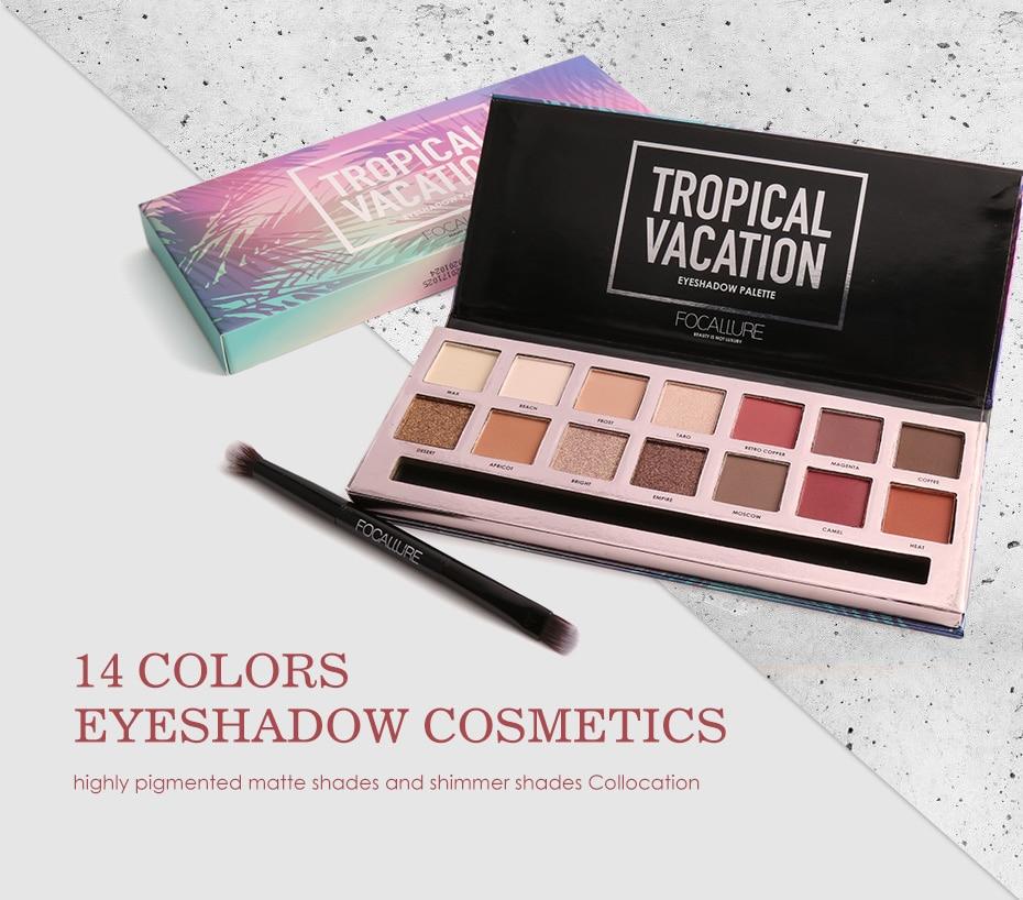 1 PC Focallure Mode Maquillage Des Yeux Ombre À Paupières 5