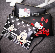 Mickey Bags Fashion Women's Shoulder Messenger Bags Ladies Leather hello kitty Handbags Female Crossbody Bags