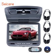 High Quality Popular Roof Mount 9 inch DVD Player with FM USB SD Support the newest 32 Bit+8 Bit games wirelessgame controller