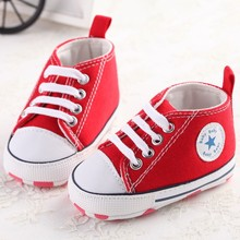 New sport Canvas baby shoes Newborn Boys Girls First Walkers Infant Toddler Soft Bottom Anti-slip Prewalker Sneakers 0-18M