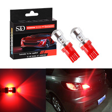 T10 Car Led Bulbs Red Canbus OBC Error Free Bulbs Interior Emitter LED DRL 194 W5W Car lamps External 10-SMD 3030 12V Auto Light(China)