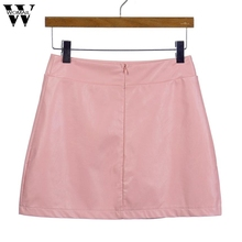 Buy WOMAIL Europe Women Sexy Bandge Leather High Waist Pencil Bodycon Hip Short Mini Skirt Hem High-Low Skirts N6 for $5.50 in AliExpress store