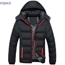 FGKKS 2017 Men Winter Jacket Warm Male Coats Fashion Thick Thermal Men Parkas Casual Men Branded Clothing