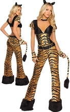 Adult Halloween Tiger Leopard Cosplay Clothing Sexy Cat Girls Cosplay Costumes Halloween Animal Masquerade Sexy Cosplay in stock