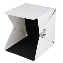 New 9inch Folding Studio Diffuse Soft Box With LED Light Black White Background Photo Studio Photography Accessories
