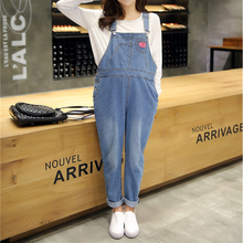 Autumn Denim overalls For Pregnant Women Jumpsuit Pregnant Clothes Rompers Jeans Maternity Overalls Denim Trousers Y807(China)