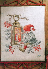 Top Quality Beautiful Lovely Counted Cross Stitch Kit Santa On Cherry Tree Light a Fire Candle Christmas Father(China)