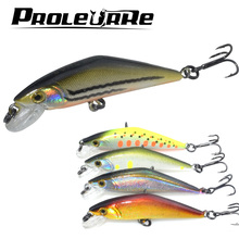 Proleurre 5.7cm 4.4g Japan Good Minnow Lures Slowly sink Crank wobblers Model Fishing Lures Crazy Swim Bait Hard Bass Fish Lure(China)