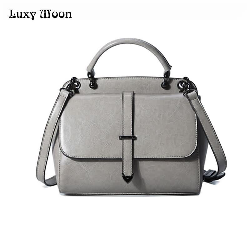 Luxy Moon Genuine Leather Womens Handbag Real Leather Large Tote Bag Slid Top-Handle Female Messenger Bag Shoulder Bag ZD678<br>