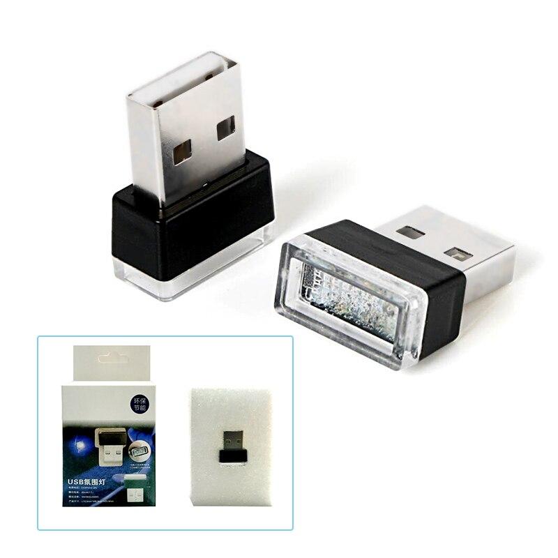 CNSUNNYLIGHT Car LED Atmosphere Lights With USB Sockets Decorative lights Interior Light Car Foot Lamp Universal Play and Plug (7)