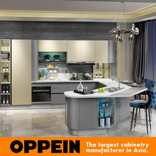 Custom North American Project Modern Lacquer Small Kitchen Designs OP15-036