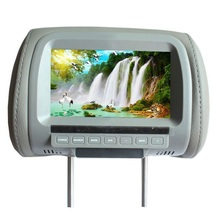 "DC36V 7"" inches Car Headrest Monitor Headrest Car Monitor Headrest Pillow Monitor 600*480  TFT LCD with AV Function"