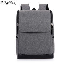 Canvas Laptop Backpack For Teenage Boys Girls Notebook Backpacks Black Gray School Bags Casual Students Rucksack Mochila(China)