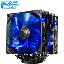 PCCOOLER high performance CPU cooler fan 5 heatpipe dual fans 4pin led silent cooling radiator fan for LGA1151 775 115x FM2+ FM2(China)